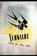 Vintage French cycling advertisment poster - Schwalbe